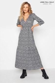 Long Tall Sally Animal Print Wrap Midaxi Dress