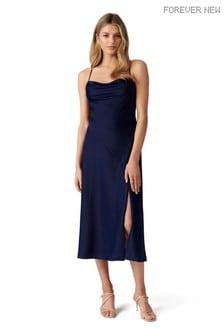 Forever New Opal Bias Cowl Satin Midi Dress