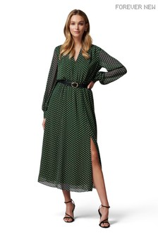 Forever New Aria Belted Midi Shirt Dress