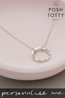 Personalised Full Circle Necklace by Posh Totty Designs