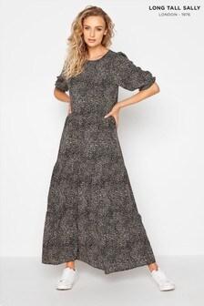 Long Tall Sally Puff Sleeve Animal Midaxi Dress
