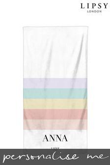 Personalised Lipsy  Beach Towel by Instajunction