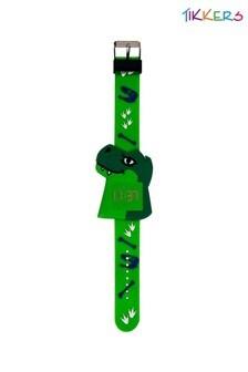 Tikkers Kids Green Silicone Strap Dinosaur Design Watch