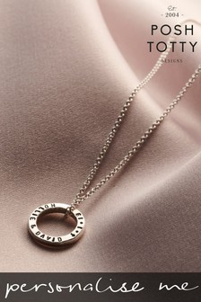 Personalised Mini Quote Circle Necklace by Posh Totty Designs