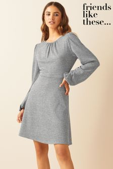 Friends Like These Soft Touch Ruched Mini Dress