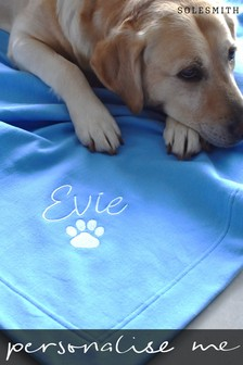 Personalised Embroidered Pet Blanket by Solesmith