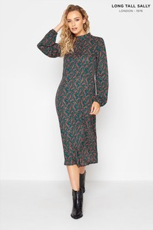 Long Tall Sally Printed Fit And Flare Dress