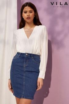 Vila Denim Short Skirt