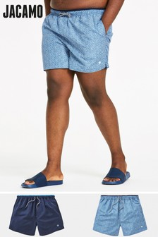 Jacamo Plus Size Capsule Swim Shorts - Pack of 2