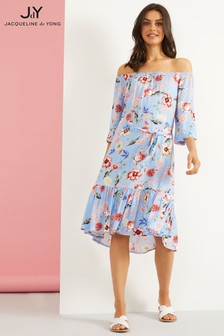 JDY Off Shoulder Printed Dress