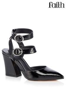 Faith Double Strap Buckle Court Shoes