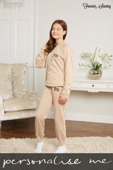 Personalised Junior Long Sleeve Lounge Set by Forever Sewing