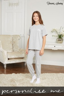 Personalised Junior T-Shirt Lounge Set by Forever Sewing