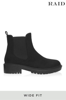 Raid Wide Fit Cleated Sole Ankle Boot