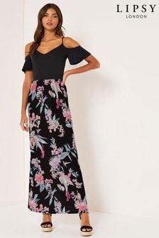 Lipsy Amy Print 2-In-1 Maxi Dress