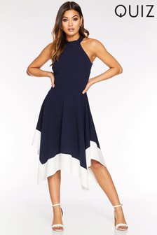 Quiz High Neck Midi Dress