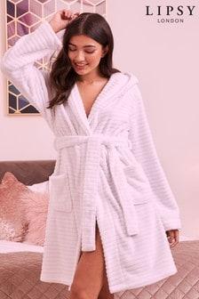 Lipsy Fluffy Hodded Robe