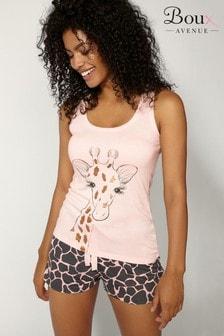 Boux Avenue Giraffe Print Pyjama Set