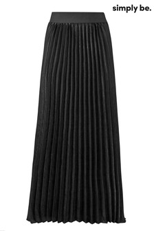 Simply Be Pleated Maxi Skirt