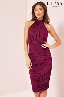 Lipsy Ruched Slinky Dress