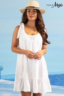 Pour Moi Escape Tie Shoulder Beach Dress