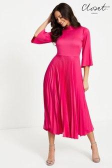 Closet Collared Pleated Dress