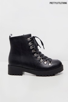 PrettyLittleThing Lace Up Hiker Boot