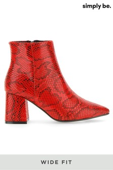 Simply Be Wide Fit Pointed Block Heel Boots