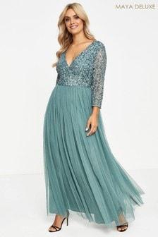 Maya Curve Embellished Maxi Dress