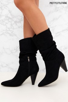 PrettyLittleThing Mid-Calf Slouch Boots