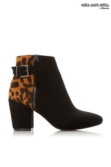 Head Over Heels Buckle Ankle Boots