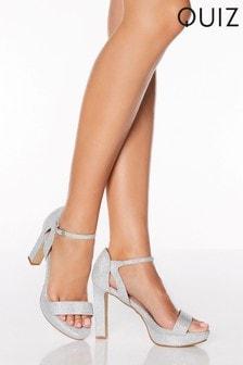Quiz Shimmer Platform Heels