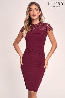 Lipsy Lace Detail Bodycon Dress