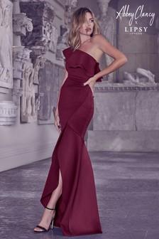 Abbey Clancy x Lipsy One Shoulder Ruffle Maxi Dress