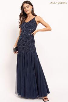 Maya Sequin Fishtail Maxi Dress
