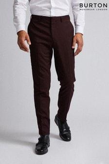 Burton Gingham Slim Fit Suit Trouser