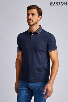 Burton Jaquard Collar Polo Shirt