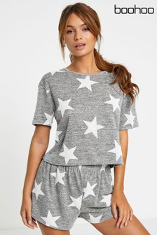 Boohoo Star Print Shorts PJ Set