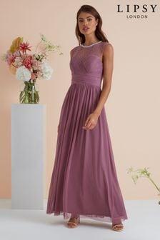 Lipsy Elsa Lace Trim Bridesmaid Dress