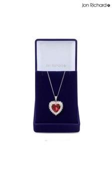 Jon Richard Cubic Zirconia Heart Pendant - Gift Boxed