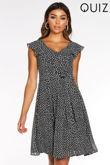 Quiz Frill Sleeve Ruffle Dress