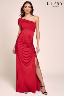 Lipsy One Shoulder Slinky Maxi Dress