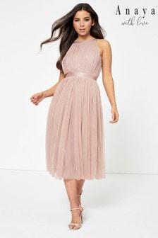 Anaya With Love Halter Midi Dress