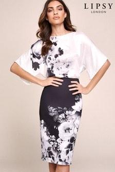 Lipsy Blouson Bodycon Dress