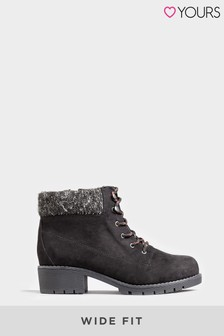 Yours Contrast Lace Hiker