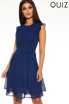 Quiz Frill Tea Dress