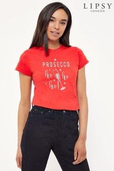 Instajunction Lipsy Prosecco Ho Ho Ho At Christmas Women's T-Shirt