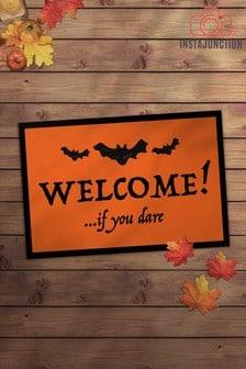Instajunction Halloween Welcome If You Dare Door Mat