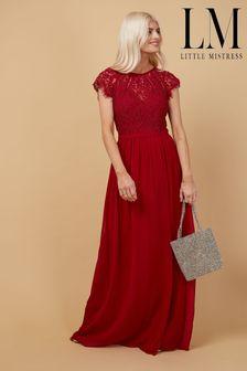 Little Mistress Bridesmaid Sonja Lace Maxi Dress