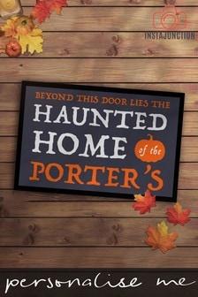 Personalised Halloween Haunted Home Door Mat by Instajunction